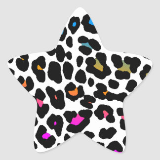 Corey Tiger 80s Leopard Spots (White) Star Sticker