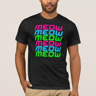 Corey Tiger 80s Meow Meow Meow Meow Meow Meow T-Shirt