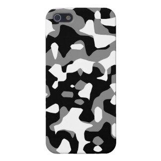 Corey Tiger 80s Neon Camo (Gray Snow) iPhone 5 Cover