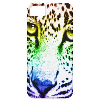 Corey Tiger 80s Neon Leopard Face Rainbow iPhone 5 Cases