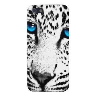 Corey Tiger 80s Neon Leopard Face (White) iPhone 5/5S Covers
