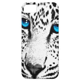 Corey Tiger 80s Neon Leopard Face (White Snow) iPhone 5 Case