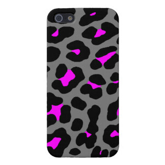 Corey Tiger 80s Neon Leopard Spots (Gray Pink) Case For iPhone 5/5S
