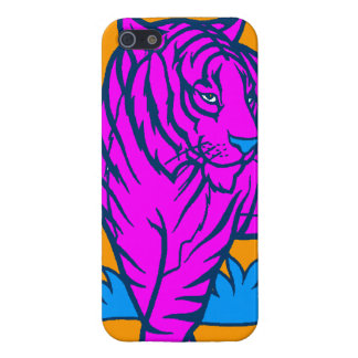 Corey Tiger 80s Neon Pink Tiger iPhone 5 Covers