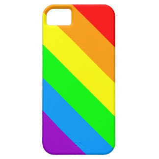 Corey Tiger 80s Neon Rainbow Pride Stripes iPhone 5 Covers