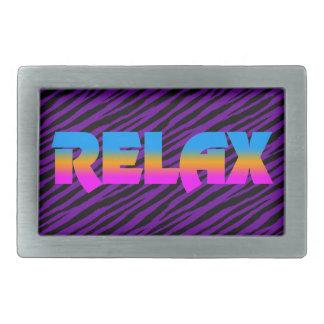 Corey Tiger 80s Neon Relax Rectangular Belt Buckles