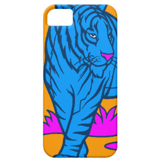 Corey Tiger 80s Neon Tiger (Blue) Case For The iPhone 5