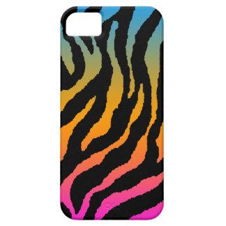 Corey Tiger 80s Neon Tiger Stripes (Neon Rainbow) iPhone 5 Case