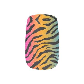Corey Tiger 80s Neon Tiger Stripes Print Minx Nail Art