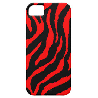 Corey Tiger 80s Neon Tiger Stripes (Red) iPhone 5 Case