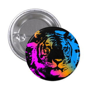 Corey Tiger 80s New Wave Tiger Face 3 Cm Round Badge