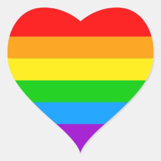 Corey Tiger 80s Rainbow Heart Sticker