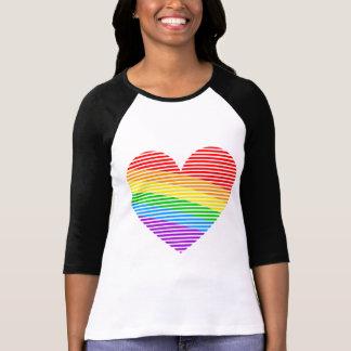 Corey Tiger 80s Rainbow Stripe Heart Jersey Tshirt