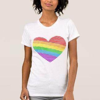 Corey Tiger 80s Rainbow Stripe Heart Tank Top