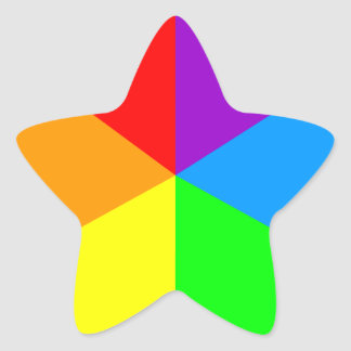 Corey Tiger 80s Rainbow Wedges Star Sticker