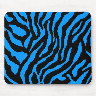 COREY TIGER 80's RETRO BLUE BLACK STRIPES Mouse Pad