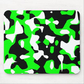 Corey Tiger 80s Retro Green Camouflage (Camo) Mouse Pad