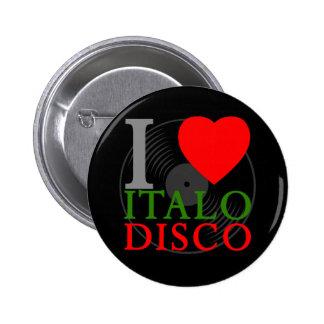 Corey Tiger 80s Retro I Love Italo Disco Pin