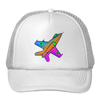 Corey Tiger 80s Retro Jet Fighter Plane Hat