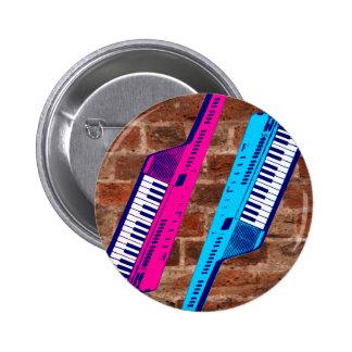 Corey Tiger 80's Retro Keytar Brick Wall Pin