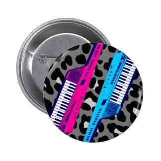 Corey Tiger 80's Retro Keytar Leopard Print 6 Cm Round Badge