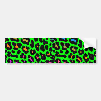Corey Tiger 80s Retro Leopard Spots Bumper Sticker