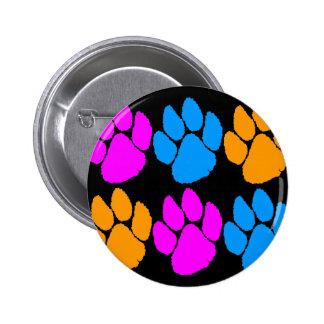 COREY TIGER 80s RETRO MULTICOLOUR TIGER CLAWS 6 Cm Round Badge