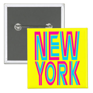 Corey Tiger 80s Retro New York 15 Cm Square Badge
