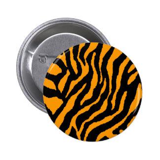 COREY TIGER 80s RETRO ORANGE TIGER STRIPES 6 Cm Round Badge