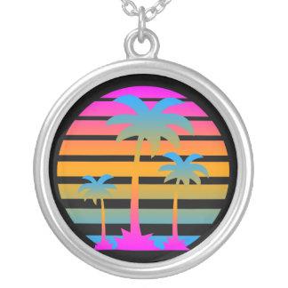 Corey Tiger 80s Retro Palm Trees Necklace