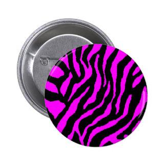 COREY TIGER 80s RETRO PINK TIGER STRIPES 6 Cm Round Badge