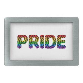 Corey Tiger 80s Retro Pride Rainbow Belt Buckles