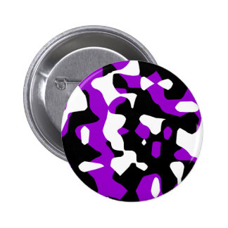 Corey Tiger 80s Retro Purple Camouflage (Camo) 6 Cm Round Badge