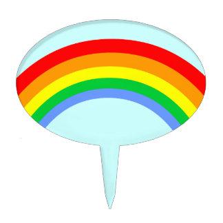 Corey Tiger 80s Retro Rainbow Oval Cake Picks