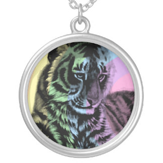 Corey Tiger 80s Retro Rainbow Tiger Necklace