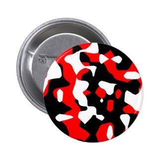 Corey Tiger 80s Retro Red Camouflage (Camo) 6 Cm Round Badge