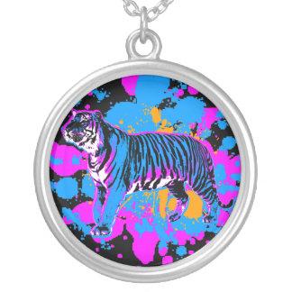 Corey Tiger 80s Retro Splatter Paint Necklace