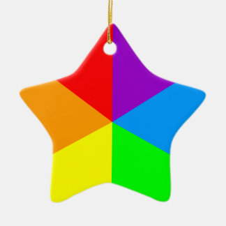 Corey Tiger 80s Retro Star Rainbow Wedges Ceramic Star Decoration