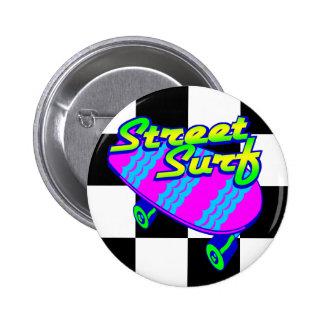 Corey Tiger 80s Retro Street Surf Skateboard 6 Cm Round Badge
