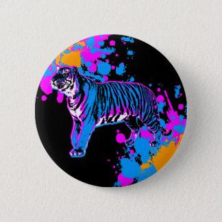 Corey Tiger 80s Retro Tiger Splatter Pin