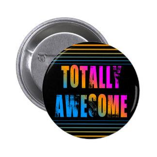 COREY TIGER 80s RETRO TOTALLY AWESOME STRIPES 6 Cm Round Badge