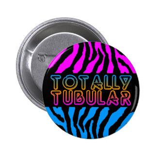 COREY TIGER 80s RETRO TOTALLY TUBULAR TIGER STRIPE 6 Cm Round Badge