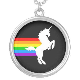 Corey Tiger 80s Retro Unicorn Rainbow Necklace
