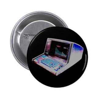Corey Tiger 80S Retro Vintage Computer 6 Cm Round Badge