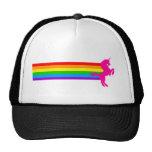 Corey Tiger 80s Retro Vintage Rainbow Unicorn Trucker Hats