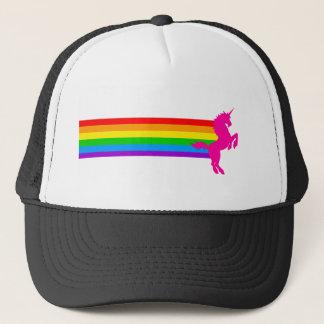 Corey Tiger 80s Retro Vintage Rainbow Unicorn Trucker Hat