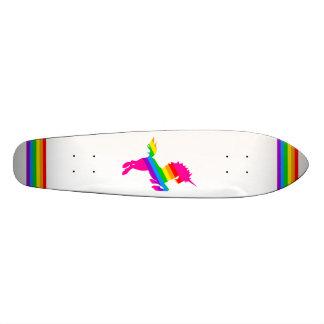 COREY TIGER 80s RETRO VINTAGE UNICORN RAINBOW WHTE Skateboard Deck