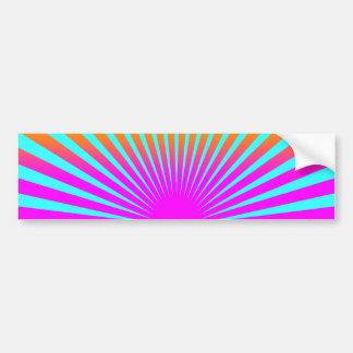 Corey Tiger 80s Rising Sun Stripes Bumper Stickers