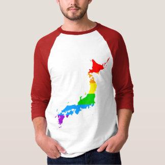 Corey Tiger 80s Style Japan Rainbow Tshirt