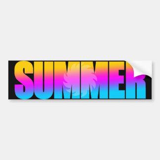 Corey Tiger 80s Summer Sun Bumper Stickers